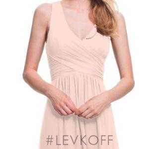 Bill Levkoff 7022 Petal Pink Bridesmaid Dress
